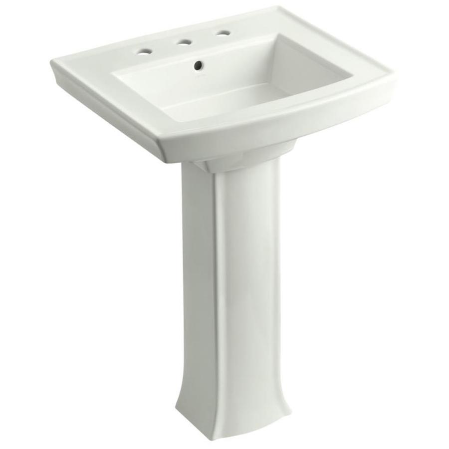 Archer Pedestal Sink : Shop KOHLER Archer 35.25-in H Dune Vitreous China Pedestal Sink at ...