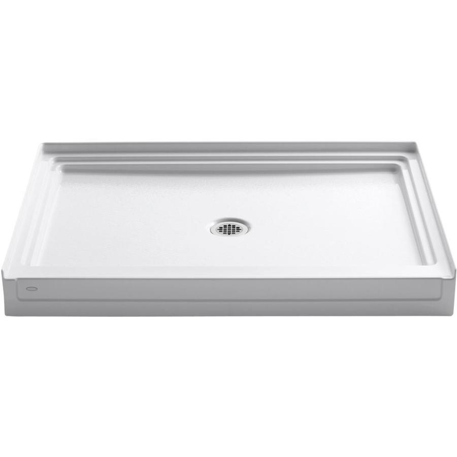 KOHLER Tresham White Acrylic Shower Base (Common: 36-in W x 48-in L; Actual: 36-in W x 48-in L)