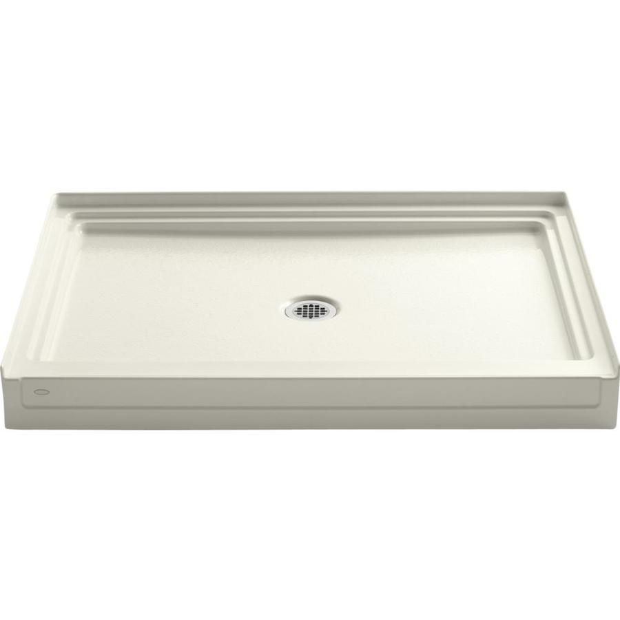 KOHLER Tresham Biscuit Acrylic Shower Base (Common: 36-in W x 48-in L; Actual: 36-in W x 48-in L)