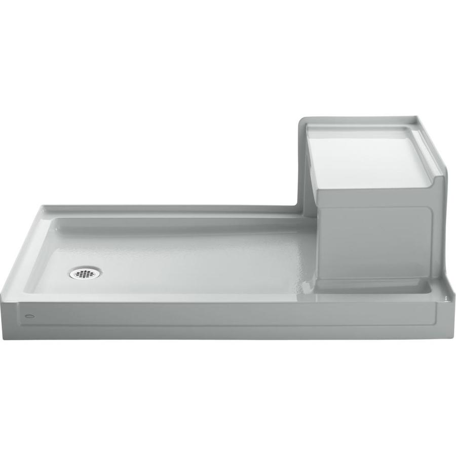 KOHLER Tresham Ice Grey Acrylic Shower Base (Common: 36-in W x 60-in L; Actual: 36-in W x 60-in L)
