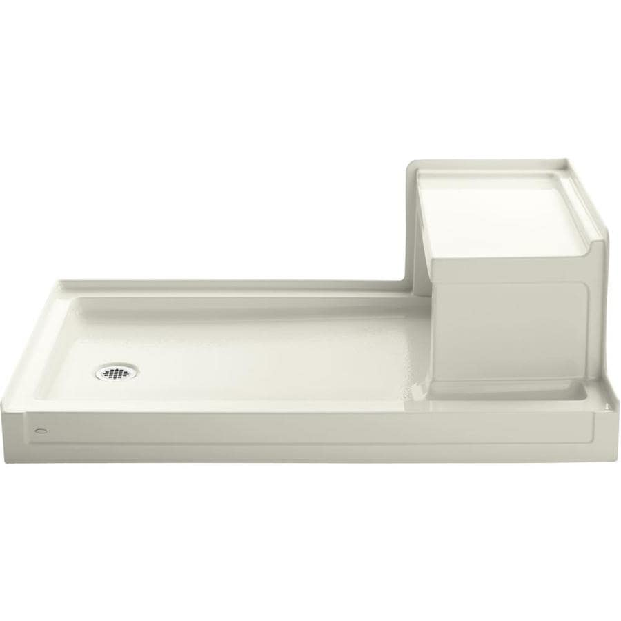 KOHLER Tresham Biscuit Acrylic Shower Base (Common: 36-in W x 60-in L; Actual: 36-in W x 60-in L)