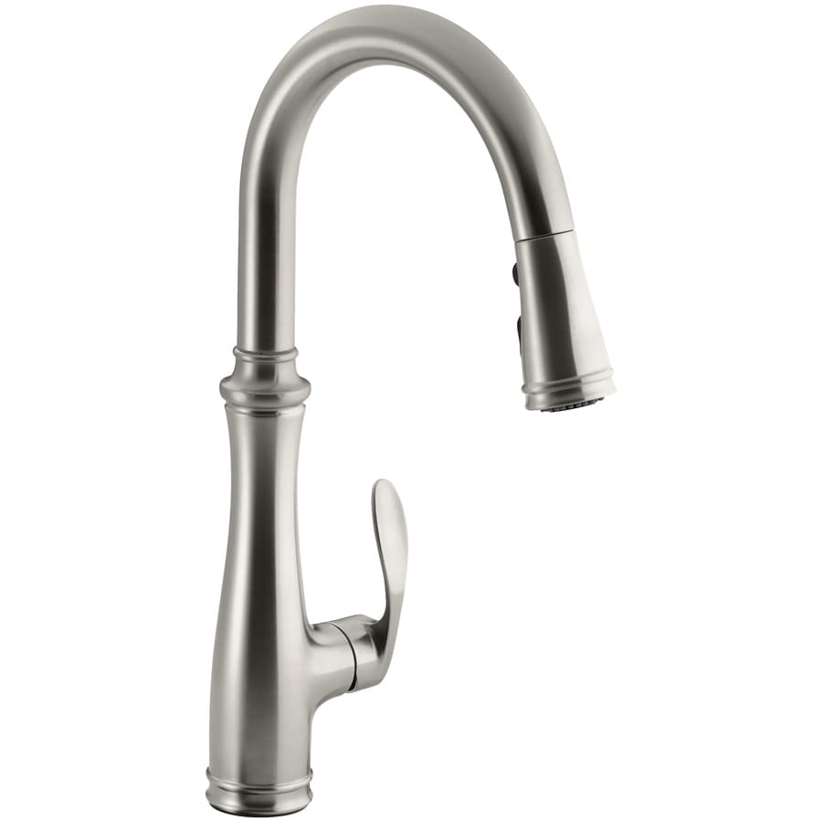 KOHLER Bellera Vibrant Stainless 1-Handle Pull-Down Kitchen Faucet