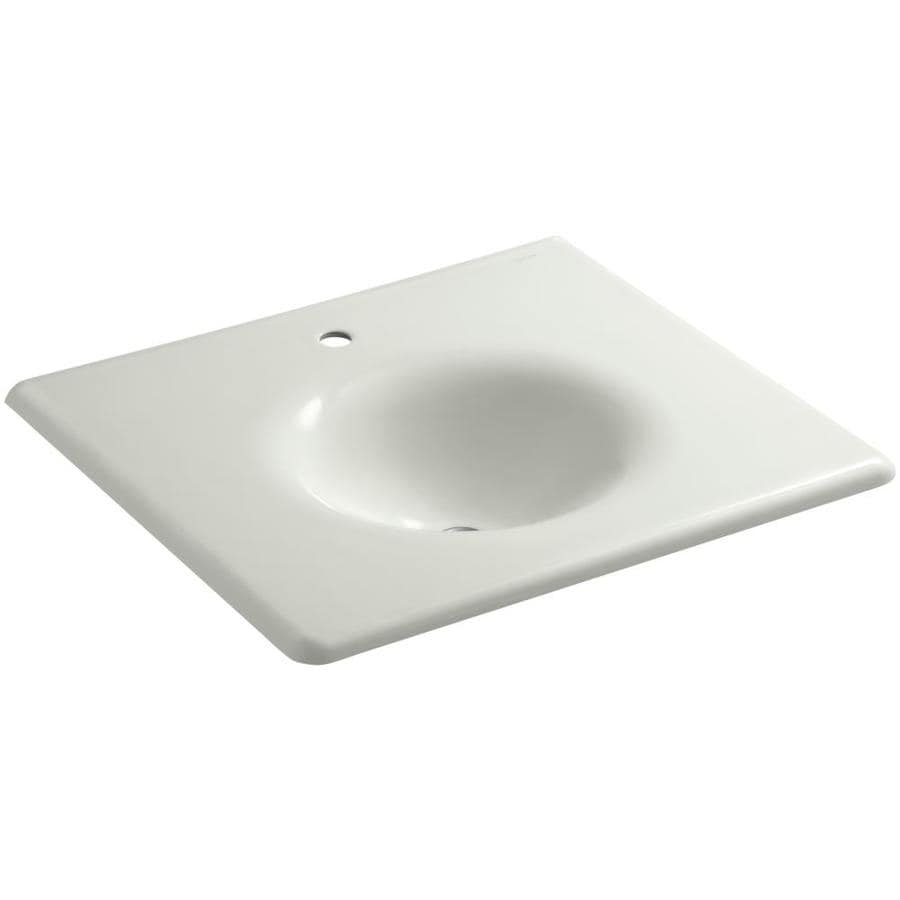 KOHLER Iron/Impressions Dune Cast Iron Integral Bathroom Vanity Top (Common: 22-in x 25-in; Actual: 22.25-in x 25.625-in)