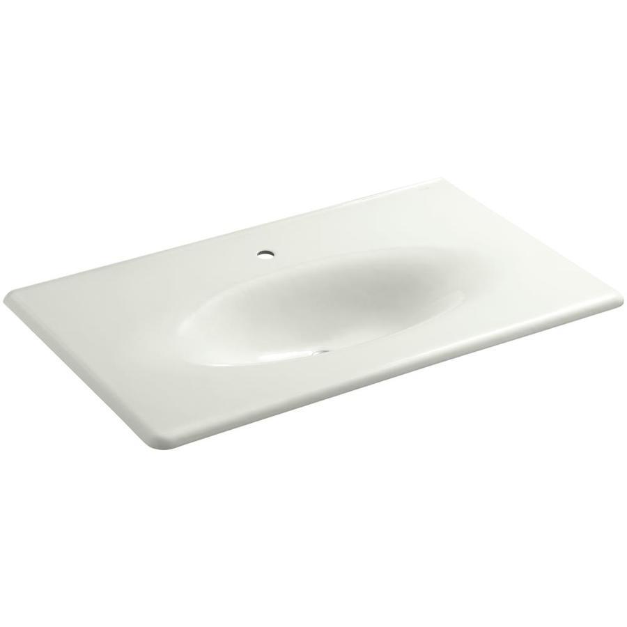 KOHLER Iron/Impressions Dune Cast Iron Integral Bathroom Vanity Top (Common: 22-in x 31-in; Actual: 22.25-in x 37.625-in)