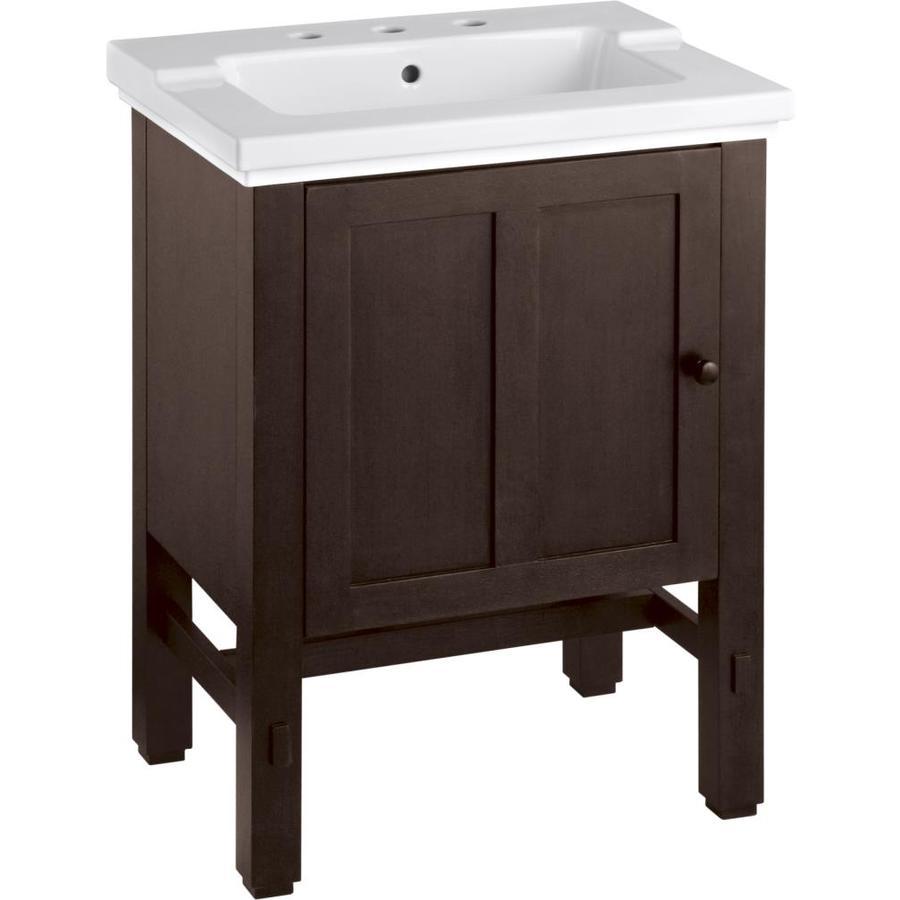 KOHLER Tresham Woodland Contemporary Bathroom Vanity (Common: 24-in x 19-in; Actual: 23.75-in x 18.125-in)