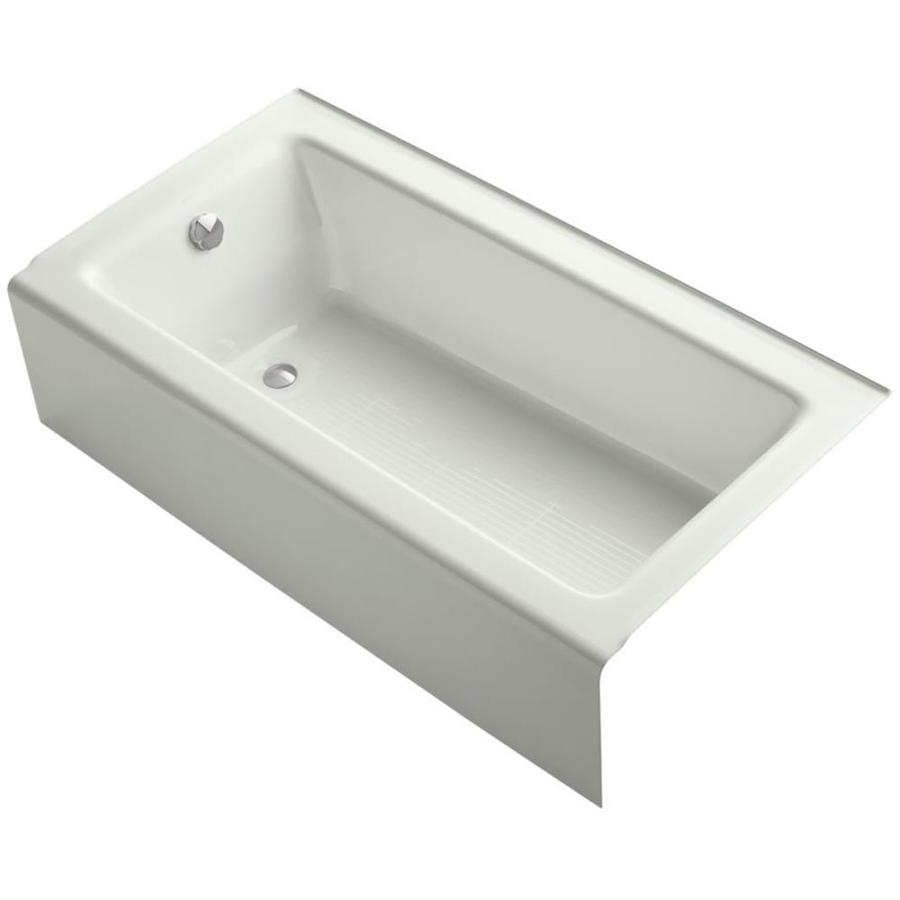 KOHLER Bellwether Dune Cast Iron Rectangular Alcove Bathtub with Left-Hand Drain (Common: 32-in x 60-in; Actual: 14.875-in x 32-in x 60-in)