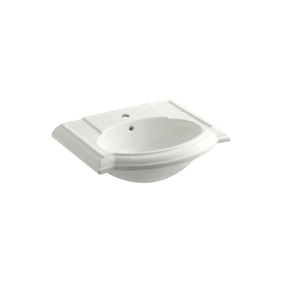 KOHLER Devonshire 24.125-in L x 19.75-in W Dune Vitreous China Rectangular Pedestal Sink Top