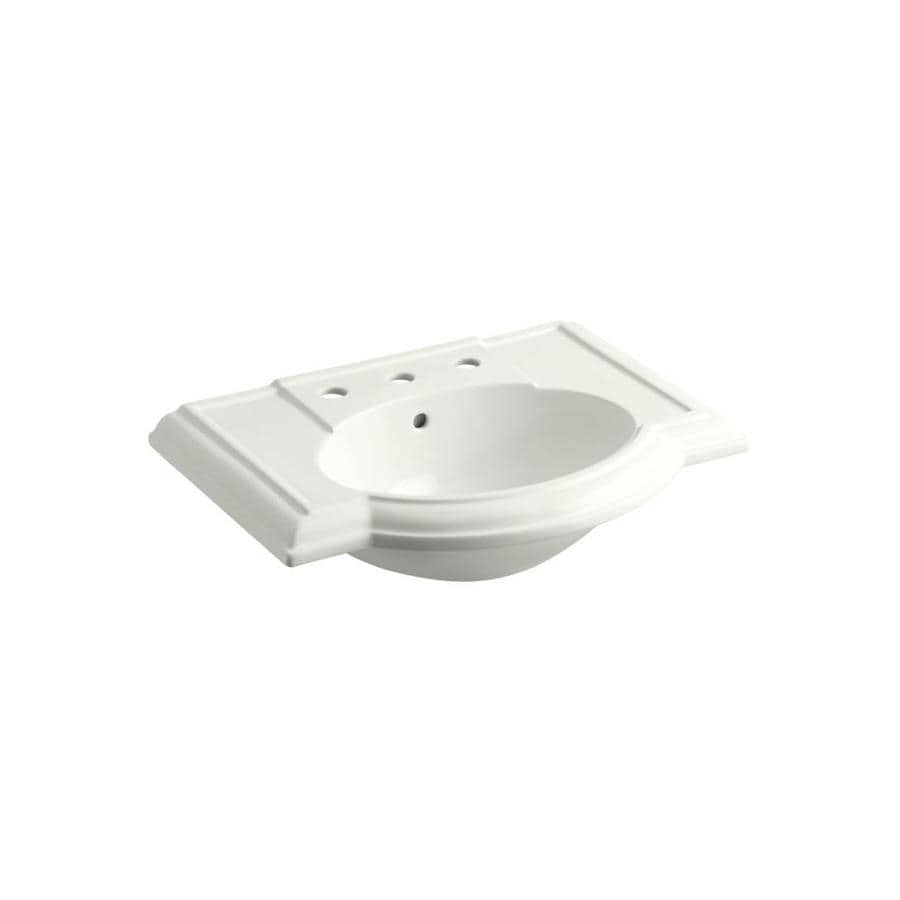 KOHLER Devonshire 27.5-in L x 19.875-in W Dune Vitreous China Rectangular Pedestal Sink Top