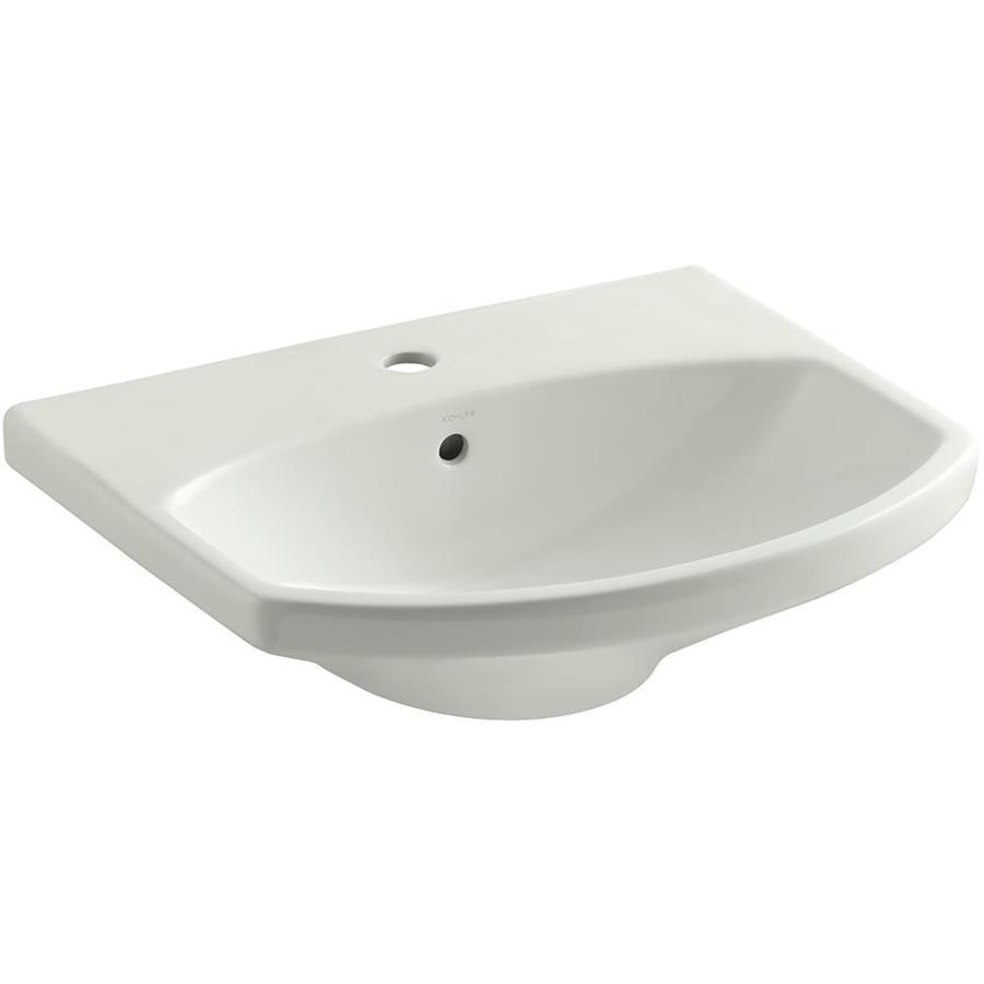 KOHLER Cimarron 22.75-in L x 18.875-in W Dune Vitreous China Rectangular Pedestal Sink Top