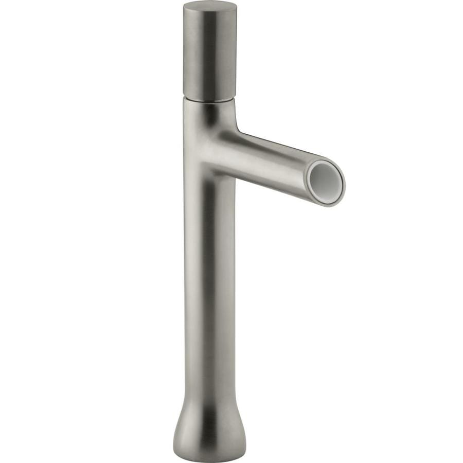 KOHLER Toobi Vibrant Brushed Nickel 1-Handle Single Hole WaterSense Bathroom Faucet (Drain Included)