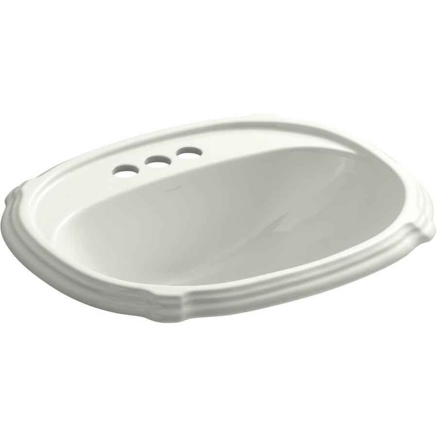 KOHLER Portrait Dune Drop-in Oval Bathroom Sink with Overflow