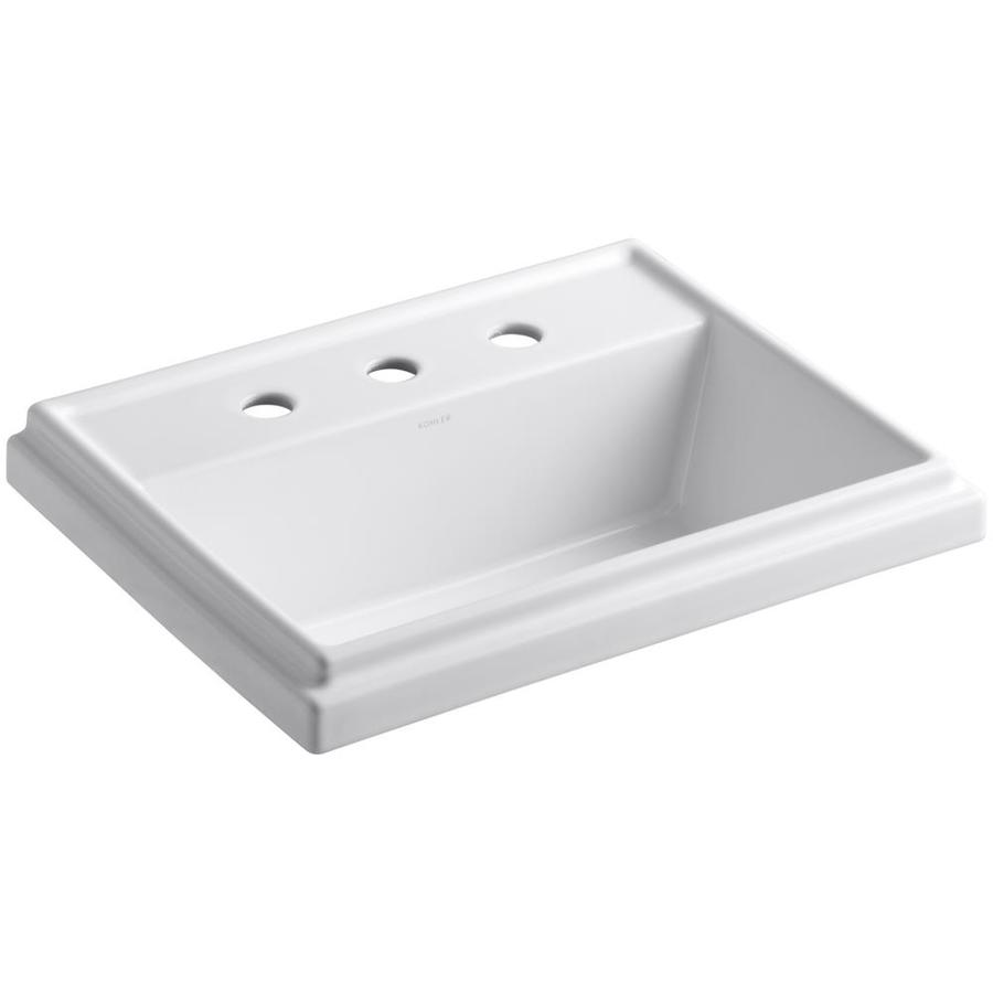 Shop Kohler Tresham White Drop In Rectangular Bathroom