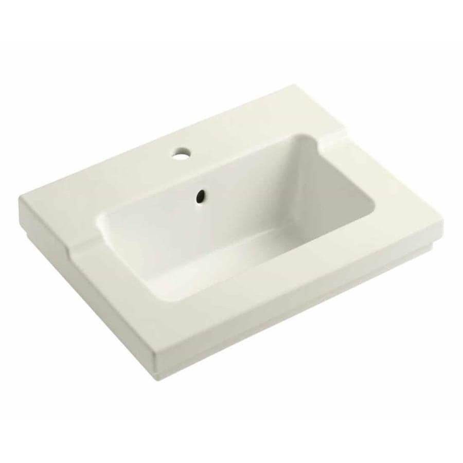 KOHLER Tresham Biscuit Vitreous China Integral Bathroom Vanity Top (Common: 20-in x 25-in; Actual: 19.0625-in x 25.4375-in)