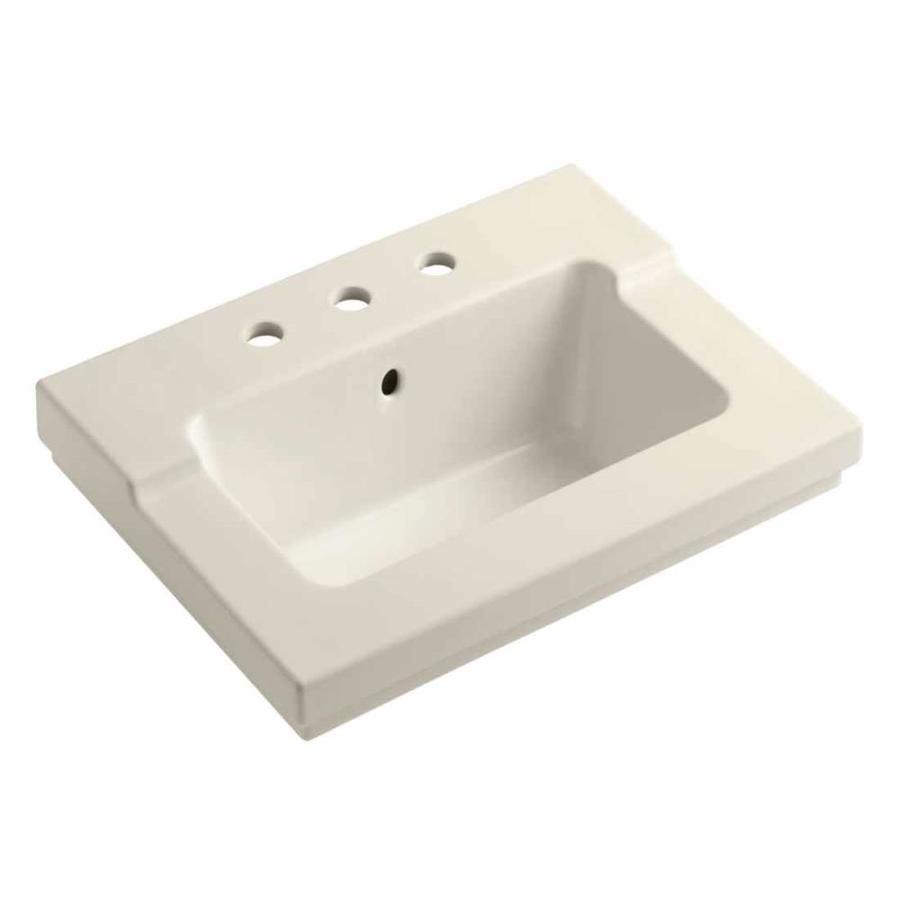 KOHLER Tresham Almond Vitreous China Integral Bathroom Vanity Top (Common: 20-in x 25-in; Actual: 19.0625-in x 25.4375-in)