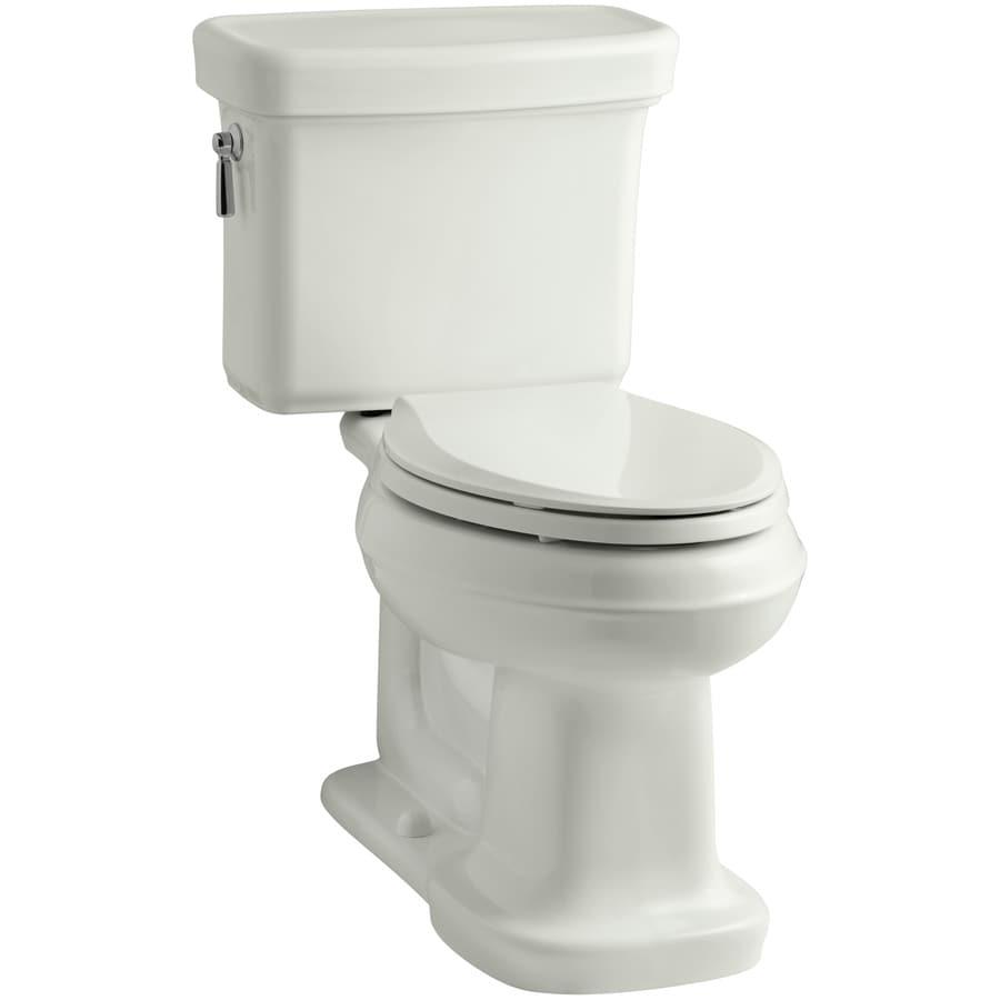 KOHLER Bancroft Dune 1.28-GPF (4.85-LPF) 12 Rough-In WaterSense Elongated 2-Piece Chair Height Toilet