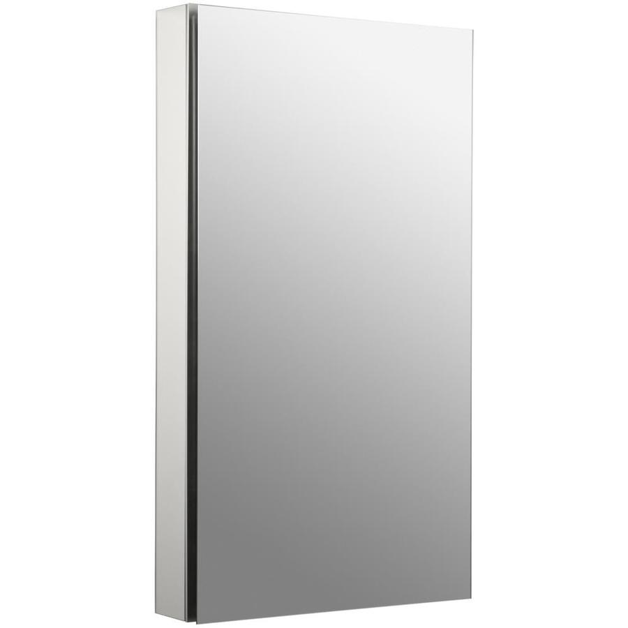 KOHLER Catalan 20.125-in x 36-in Rectangle Surface/Recessed Mirrored Aluminum Medicine Cabinet