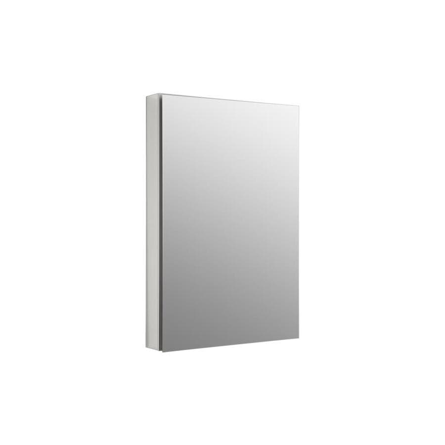 KOHLER Catalan 24.125-in x 36-in Rectangle Surface/Recessed Mirrored Aluminum Medicine Cabinet
