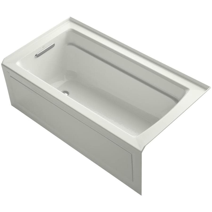 KOHLER Archer Dune Acrylic Rectangular Alcove Bathtub with Left-Hand Drain (Common: 32-in x 60-in; Actual: 19-in x 32-in x 60-in)