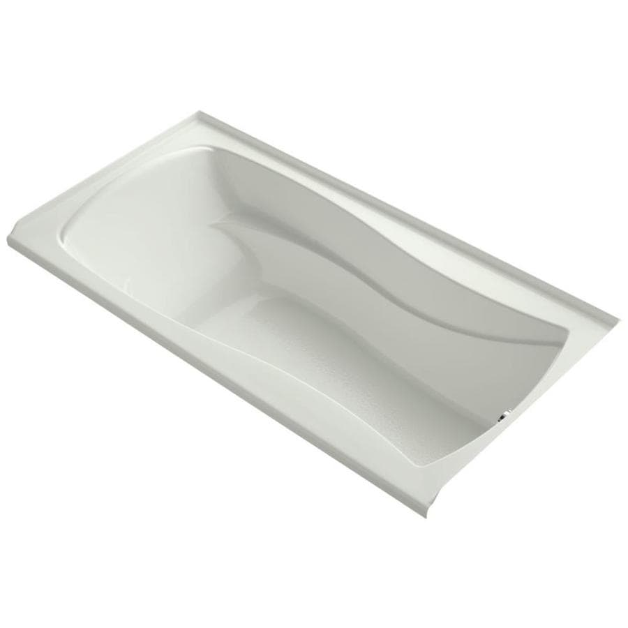 KOHLER Mariposa Dune Acrylic Hourglass In Rectangle Alcove Bathtub with Right-Hand Drain (Common: 36-in x 72-in; Actual: 20-in x 36-in x 72-in)