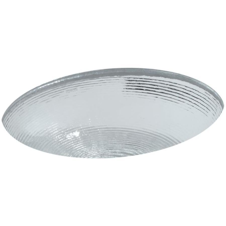 KOHLER Whist Ice Glass Undermount Round Bathroom Sink