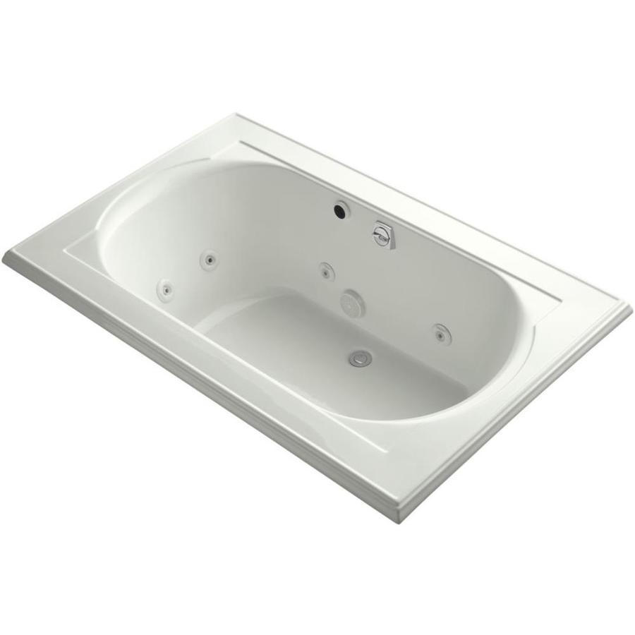 KOHLER Memoirs 2-Person Dune Acrylic Oval In Rectangle Drop-in Whirlpool Tub (Common: 42-in x 66-in; Actual: 22-in x 42-in x 66-in)