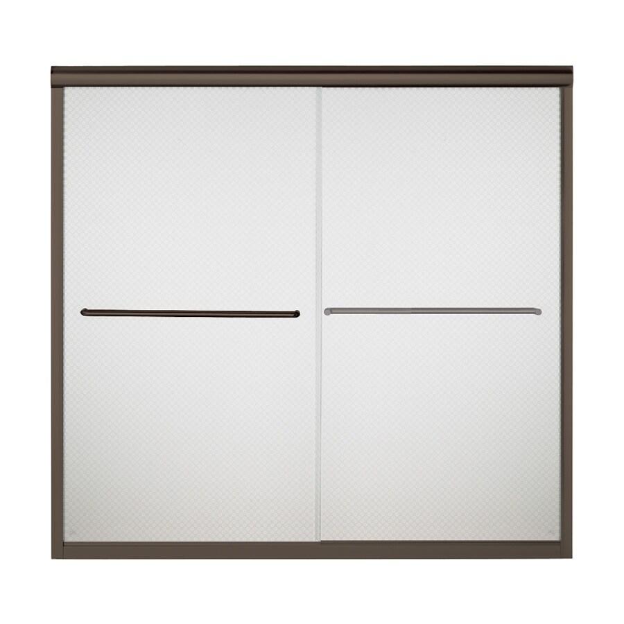 Sterling Finesse 59.625-in W x 58.31-in H Frameless Bathtub Door