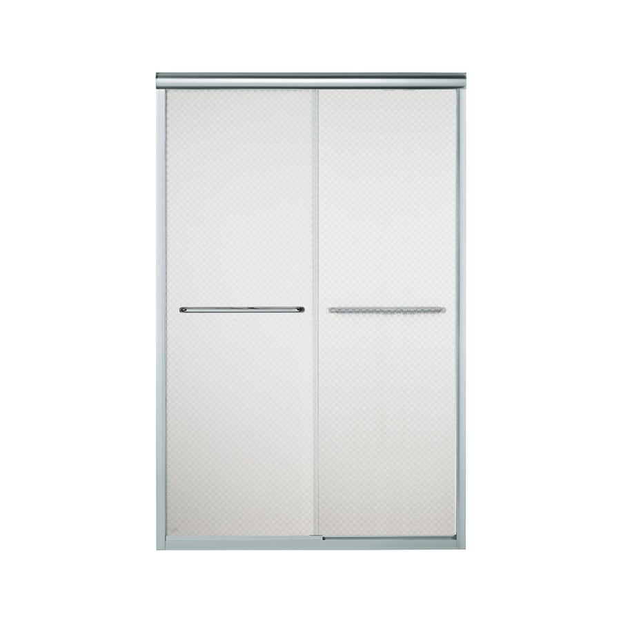 Sterling Finesse 42.625-in to 47.625-in W x 70.0625-in H Silver Sliding Shower Door