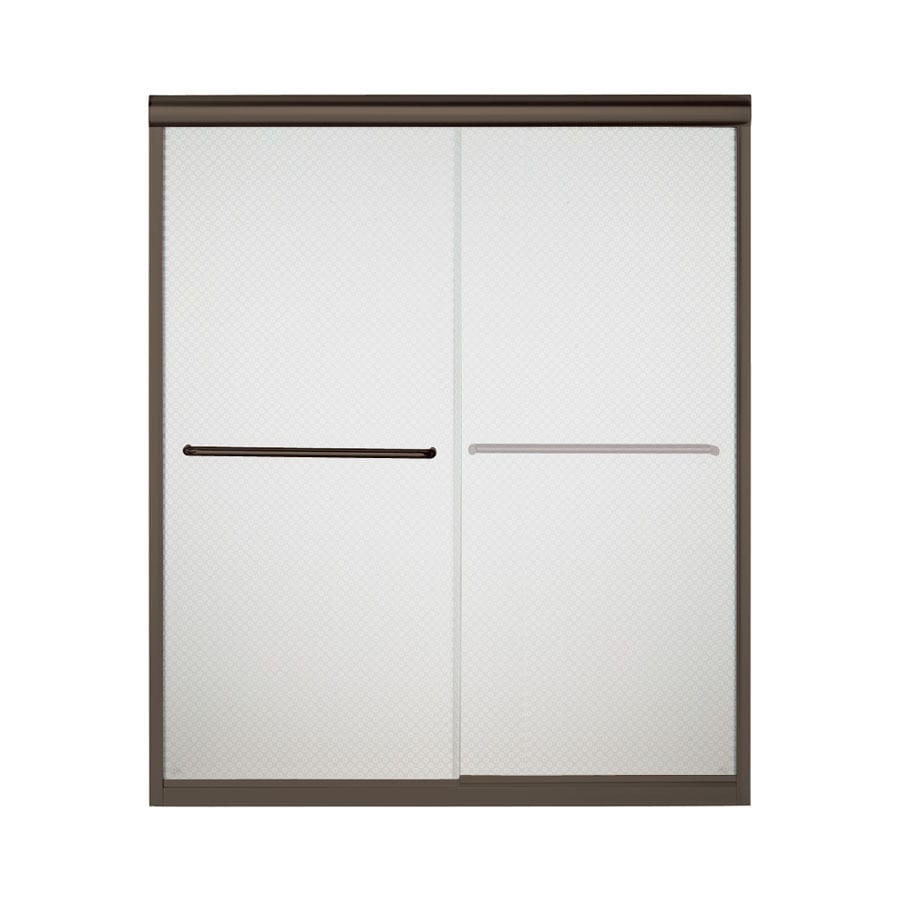 Sterling Finesse 54.625-in to 59.625-in W x 70.0625-in H Deep Bronze Sliding Shower Door