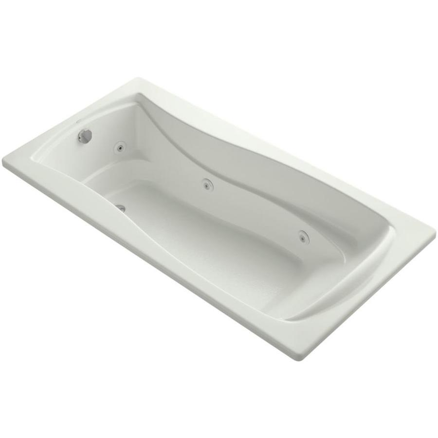 KOHLER Mariposa Dune Acrylic Hourglass In Rectangle Drop-in Whirlpool Tub (Common: 36-in x 72-in; Actual: 20-in x 36-in x 72-in)