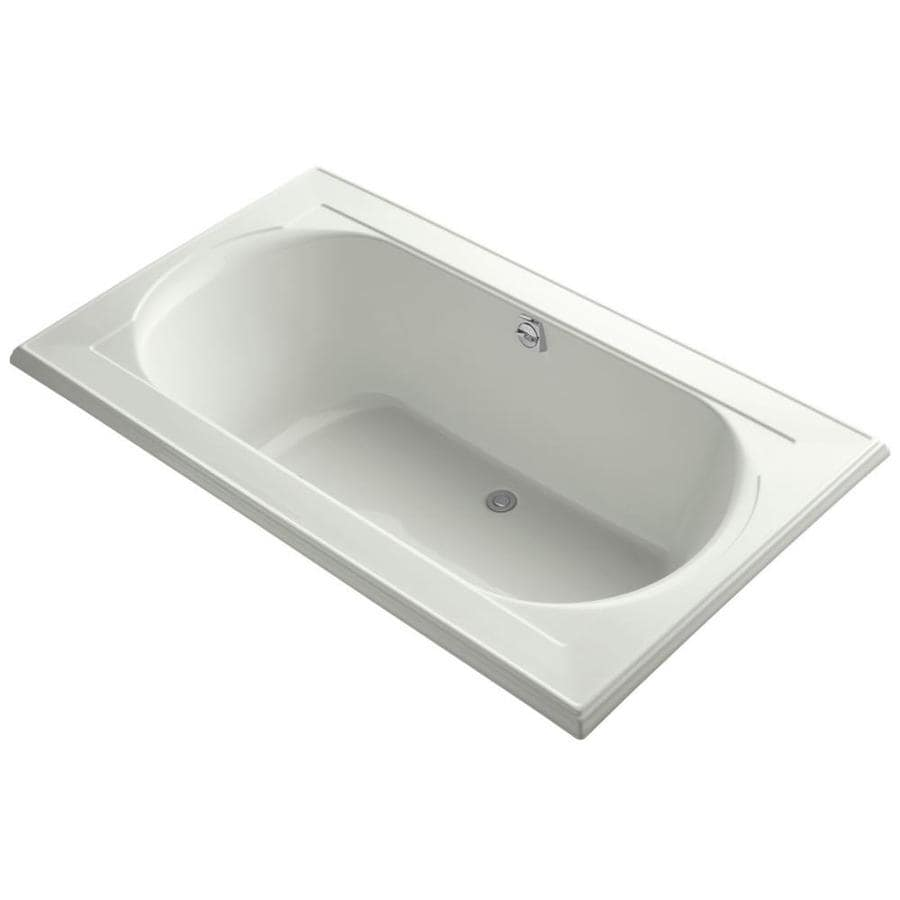 KOHLER Memoirs Dune Acrylic Oval In Rectangle Drop-in Bathtub with Back Center Drain (Common: 42-in x 72-in; Actual: 22-in x 42-in x 72-in)