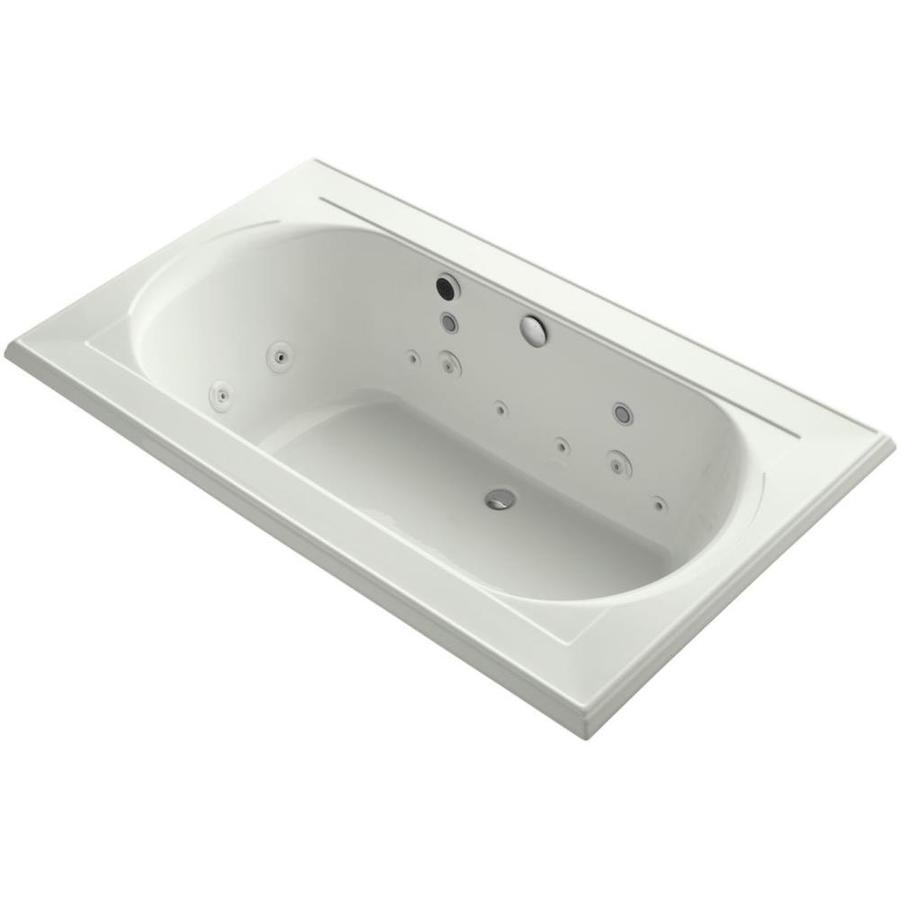 KOHLER Memoirs Dune Acrylic Oval In Rectangle Drop-in Whirlpool Tub (Common: 42-in x 72-in; Actual: 22-in x 42-in x 72-in)