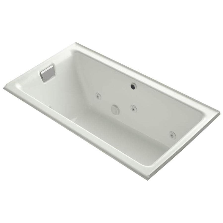 KOHLER Tea-For-Two Dune Cast Iron Rectangular Drop-in Bathtub with Left-Hand Drain (Common: 36-in x 66-in; Actual: 24-in x 36-in x 66-in)