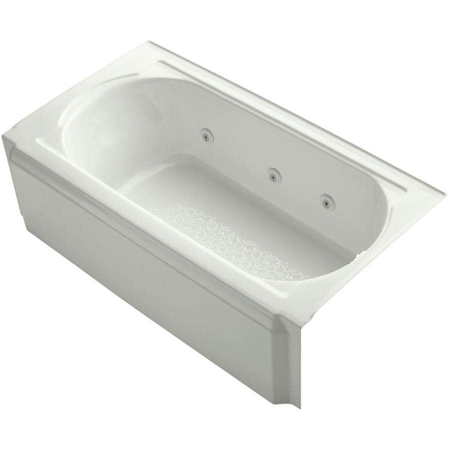 KOHLER Memoirs Dune Acrylic Oval In Rectangle Alcove Whirlpool Tub (Common: 34-in x 60-in; Actual: 17.4375-in x 33.75-in x 60-in)