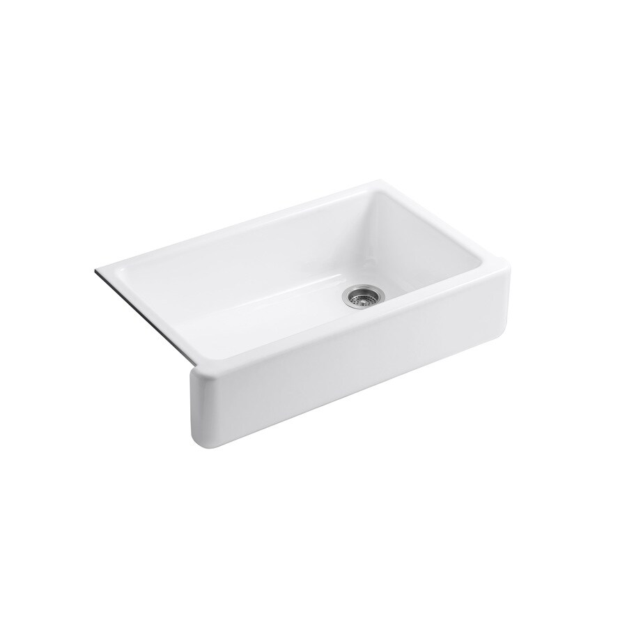 Lowes Farmhouse Sink : ... Single-Basin Cast Iron Apron Front/Farmhouse Residential Kitchen Sink