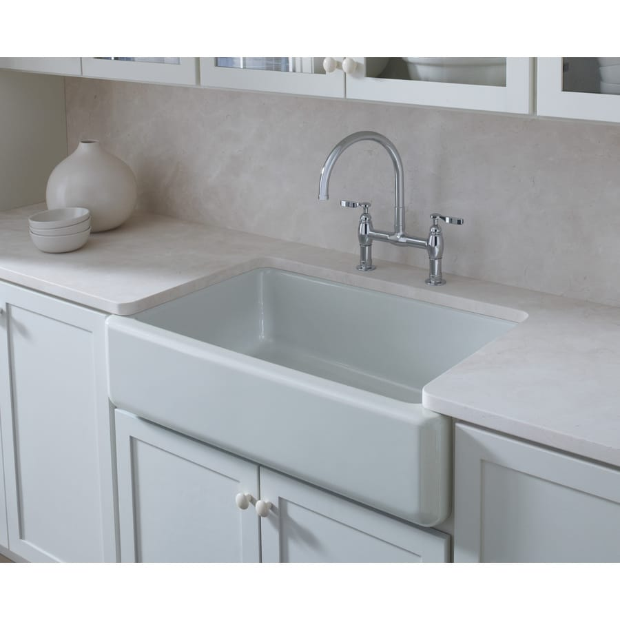 Shoptagr | Kohler Whitehaven 21.56 In X 35.68 In White Single Basin ...