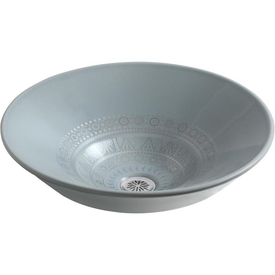 KOHLER Caravan Nepal Vessel Round Bathroom Sink
