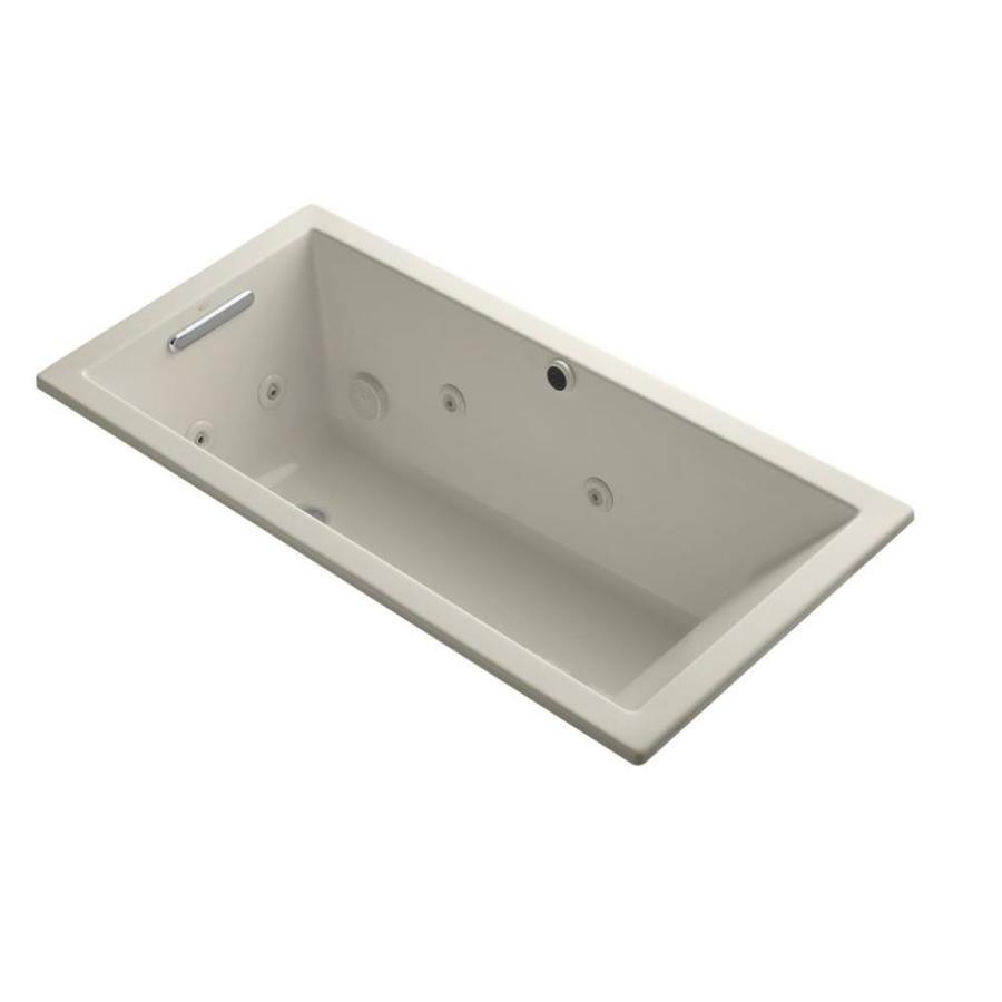 KOHLER Underscore Sandbar Acrylic Rectangular Whirlpool Tub (Common: 30-in x 60-in; Actual: 19-in x 30-in x 60-in)