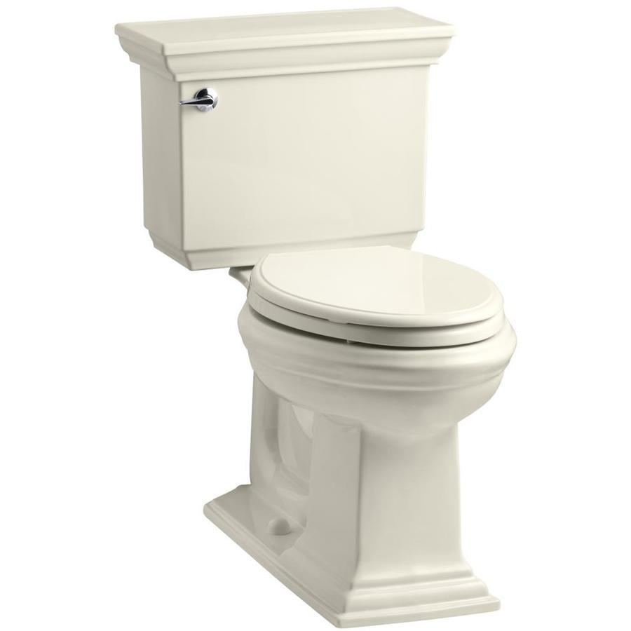KOHLER Memoirs Almond 1.6-GPF (6.06-LPF) 12-in Rough-In Elongated 2-Piece Comfort Height Toilet