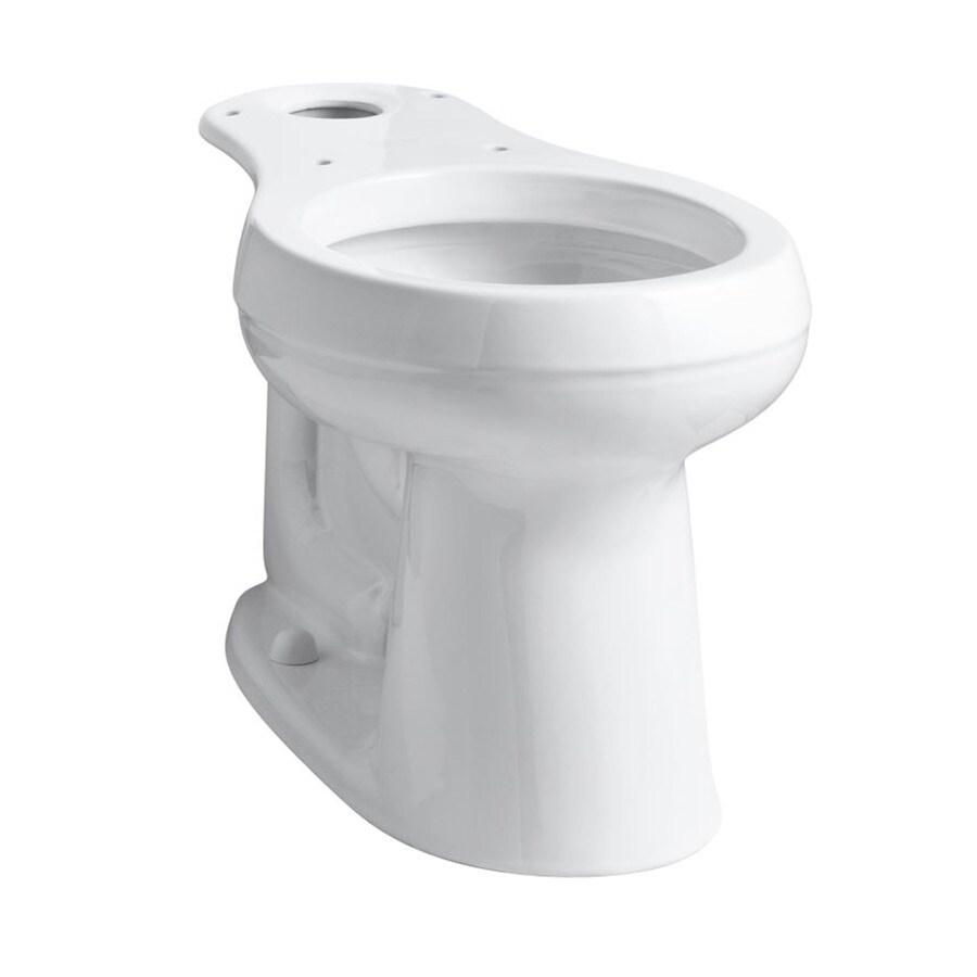 KOHLER Cimarron Chair Height White 10 Rough-In Round Toilet Bowl