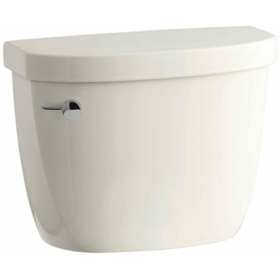 KOHLER Cimarron Biscuit 1.6-GPF (6.06-LPF) 12 Rough-In Pressure Assist Single-Flush High-Efficiency Toilet Tank