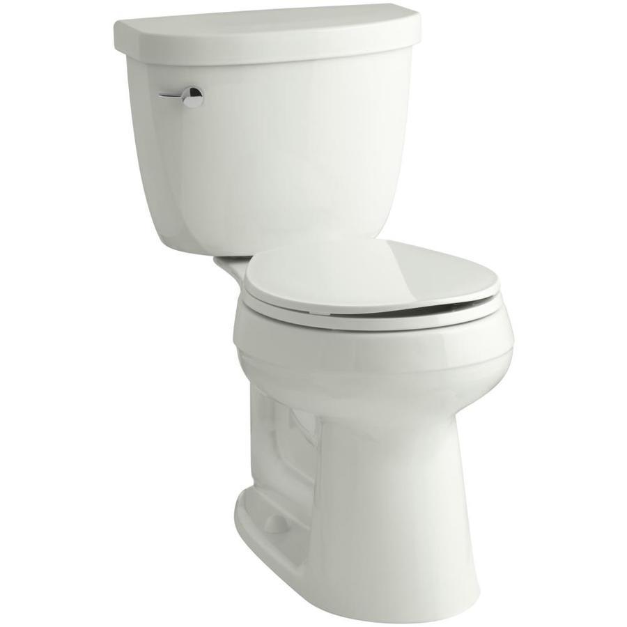 KOHLER Cimarron Dune 1.28-GPF (4.85-LPF) 12 Rough-In WaterSense Round 2-Piece Chair Height Toilet