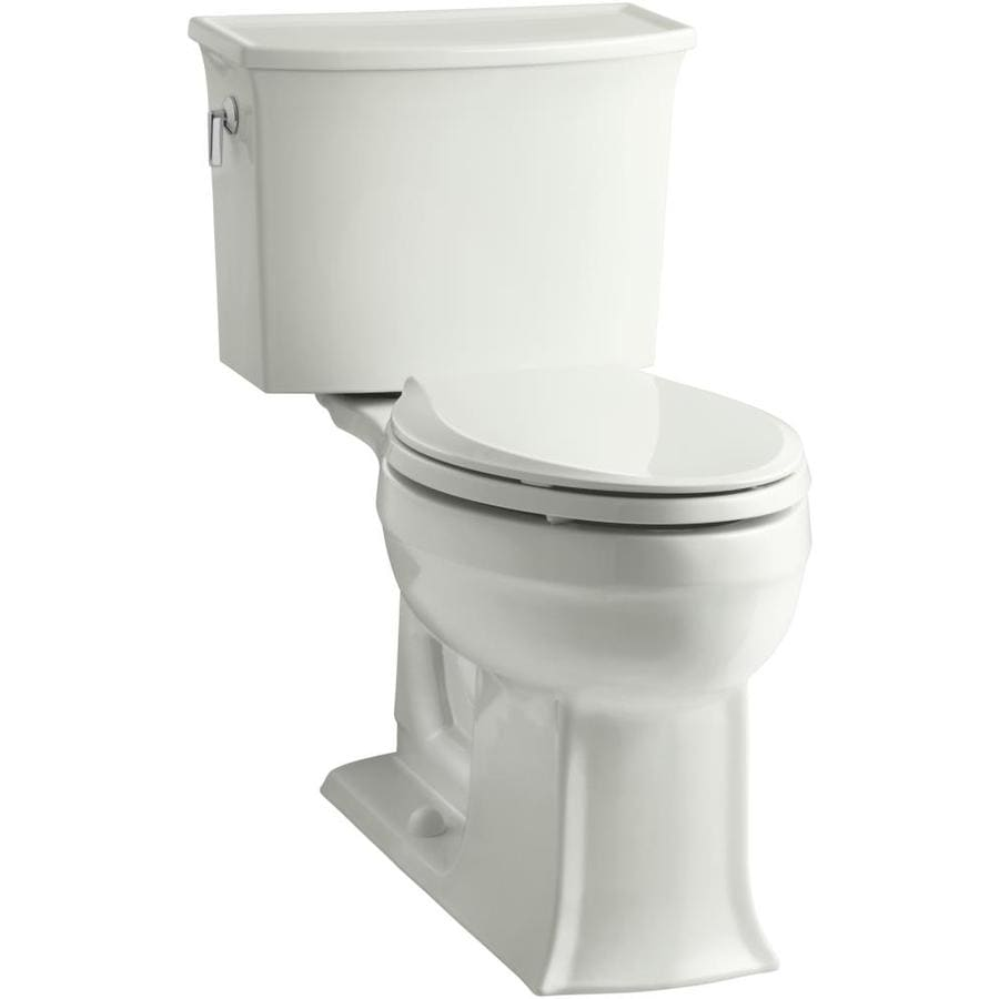 KOHLER Archer Dune 1.28-GPF (4.85-LPF) 12 Rough-In WaterSense Elongated 2-Piece Chair Height Toilet
