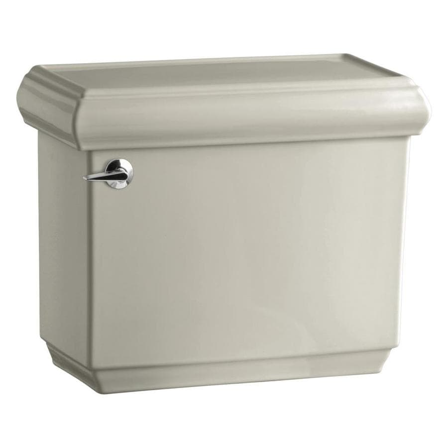 KOHLER Bancroft Sandbar 1.28-GPF (4.85-LPF) 12-in Rough-in Single-Flush High-Efficiency Toilet Tank