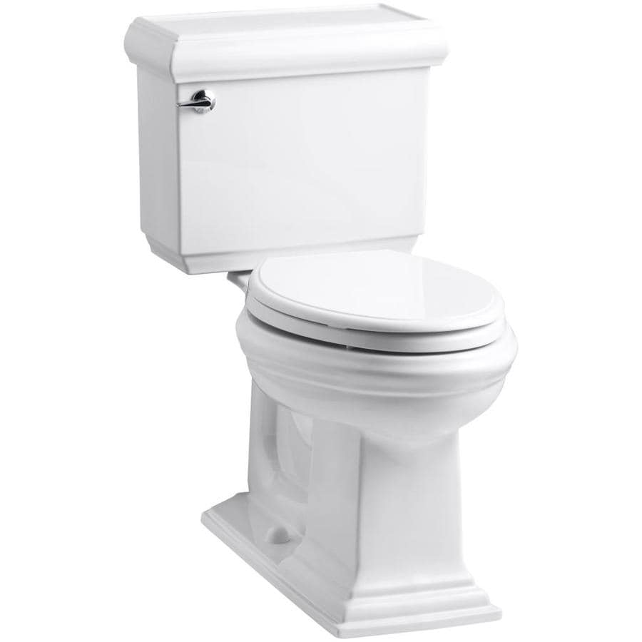 KOHLER Memoirs White 1.28-GPF (4.85-LPF) 12 Rough-In WaterSense Elongated 2-Piece Chair Height Toilet