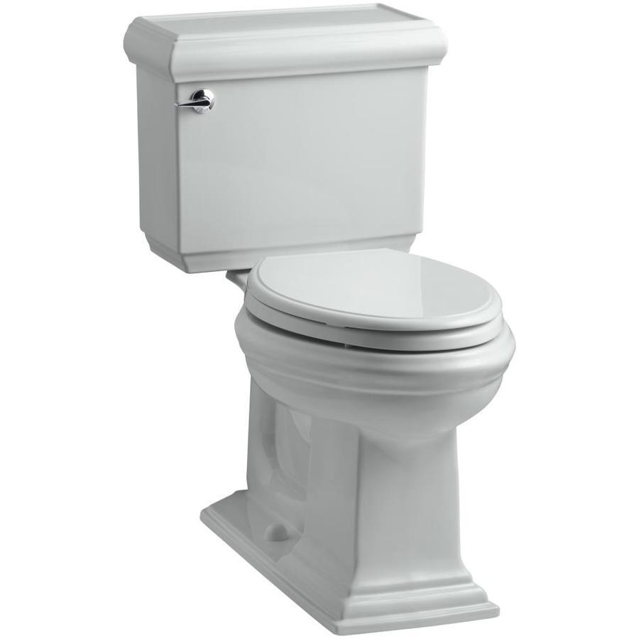 KOHLER Memoirs Ice Grey 1.28-GPF (4.85-LPF) 12 Rough-In WaterSense Elongated 2-Piece Chair Height Toilet