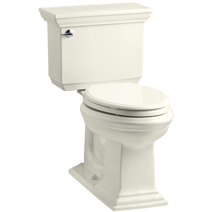 KOHLER Memoirs Biscuit 1.28-GPF (4.85-LPF) 12 Rough-In WaterSense Elongated 2-Piece Chair Height Toilet