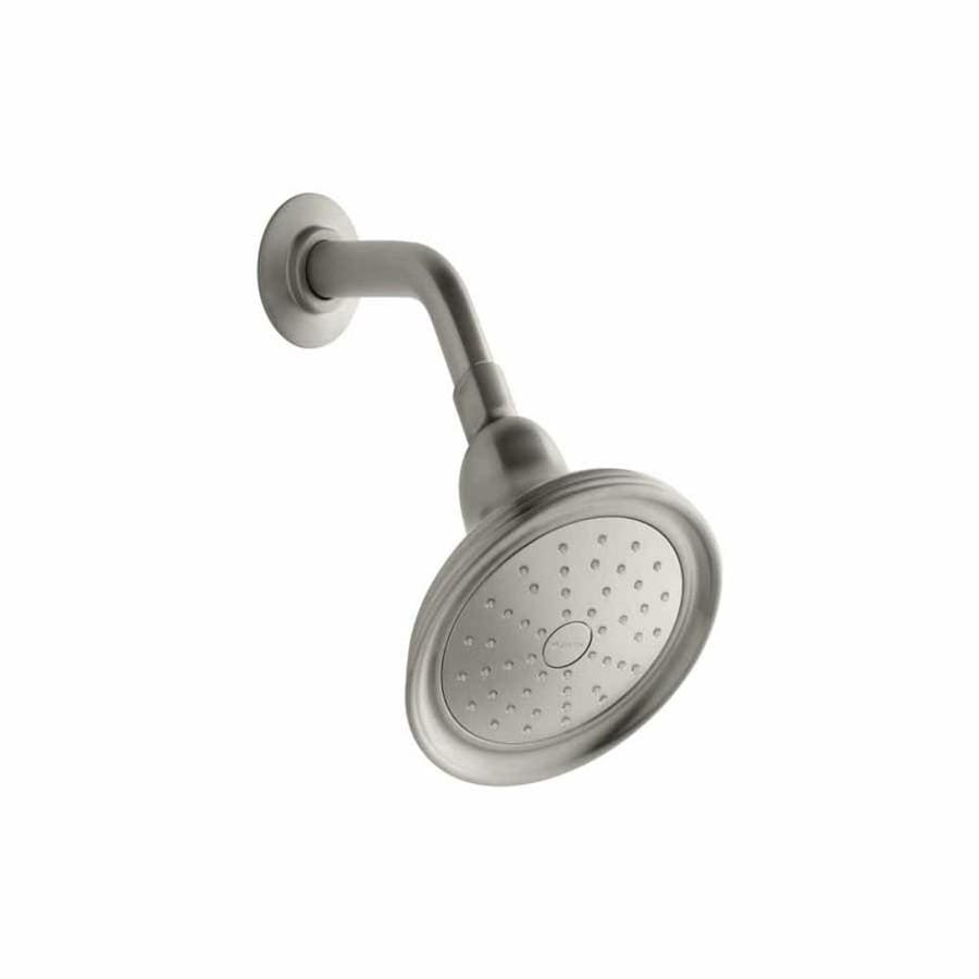 KOHLER Devonshire 5.9375-in 2.0-GPM (7.6-LPM) Vibrant Brushed Nickel 1-Spray WaterSense Showerhead