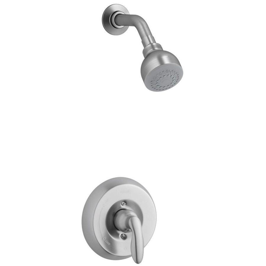 KOHLER Coralais Brushed Chrome 1-Handle WaterSense Bathtub and Shower with Single Function Showerhead