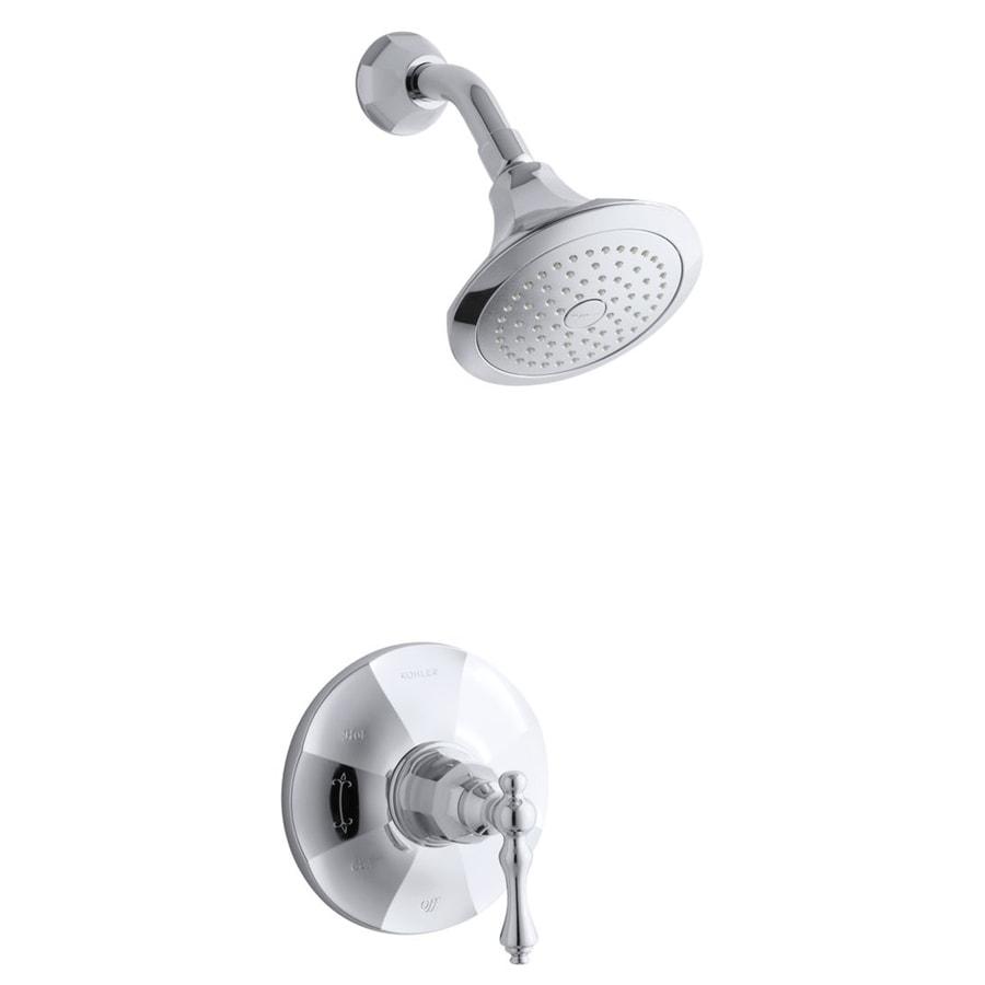 KOHLER Kelston Polished Chrome 1-Handle WaterSense Shower Faucet Trim Kit with Single Function Showerhead
