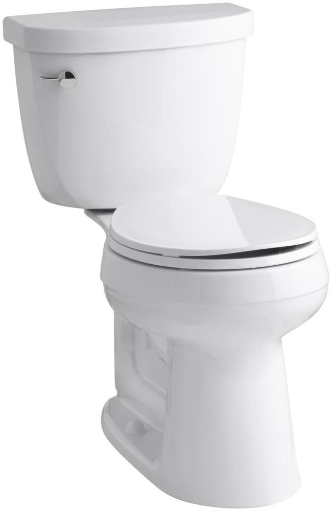KOHLER Cimarron White 1.28-GPF (4.85-LPF) 12 Rough-In WaterSense Round 2-Piece Chair Height Toilet